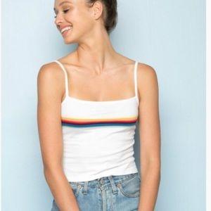 Brandy Melville Rainbow Stripe Faye Tank Top